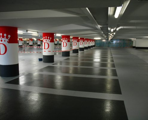 betoncoating in parkeergarage