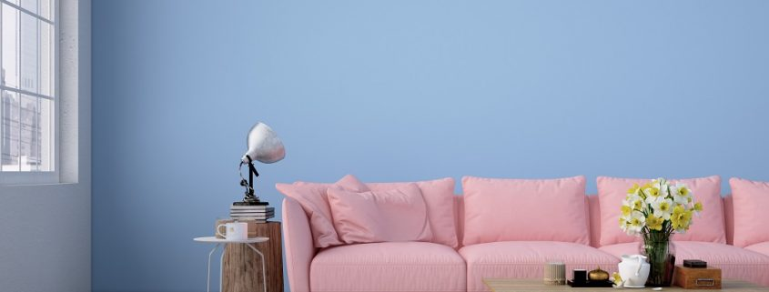 Anti-schimmel coating in de woonkamer