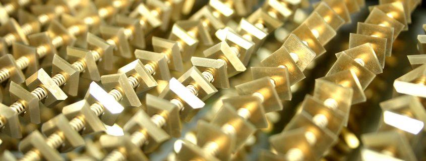 Onderdelen met titaannitride coating