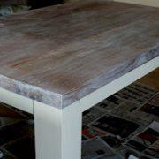 Eiken White Wash Eettafel.Eiken Tafel Grey Wash Maken Amazing Stap Steigerhout Out Maken