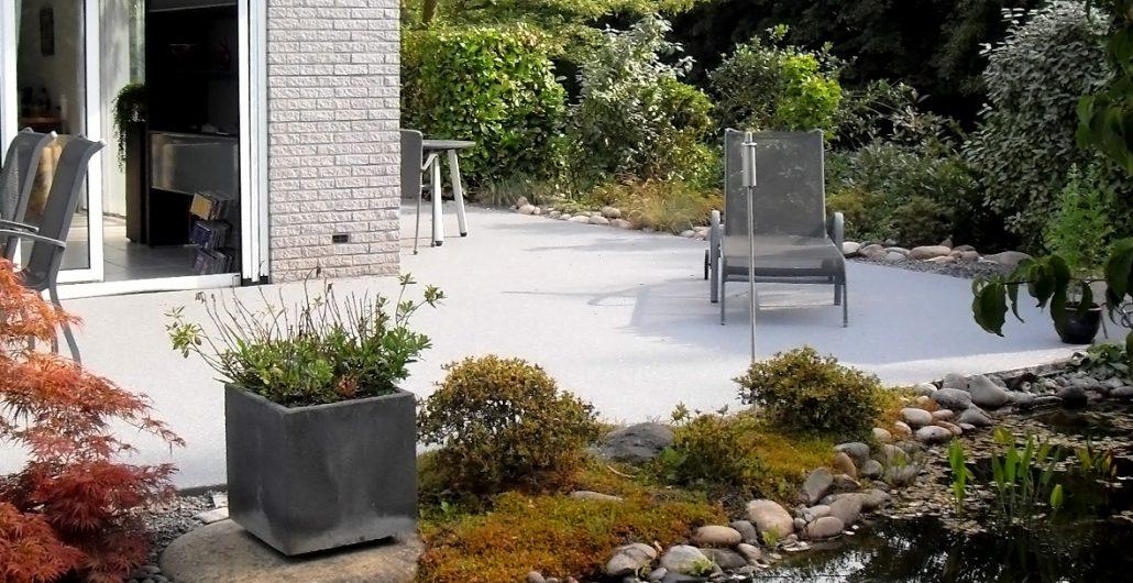 Gietvloer buiten beton gietvloer terras coating