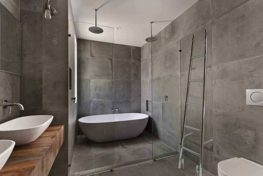 Badkamer Beton Interieur : Betonlook in de badkamer kosten specialist zelf doen coating