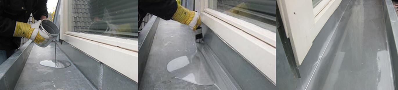 dakgoot coating aanbrengen