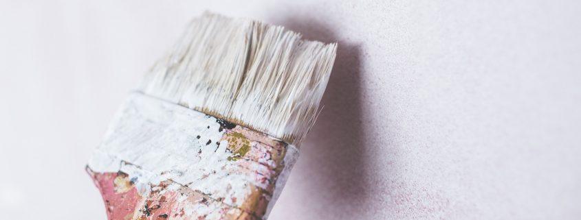 Spack plafond schilderen zonder strepen met spacklatex