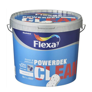 Flexa Powerdek Clean stralend wit 10L
