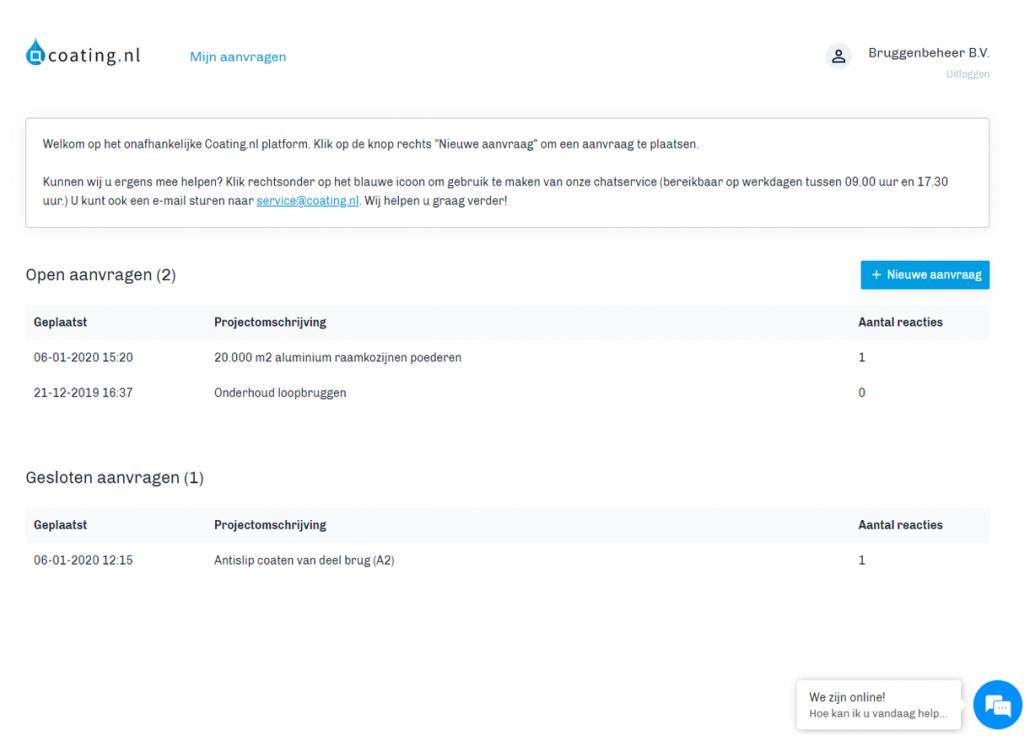 Coating.nl voorbeeld